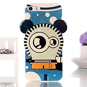 JJE Cute Cartoon Robot TPU Soft Case for iPhone 5/5S
