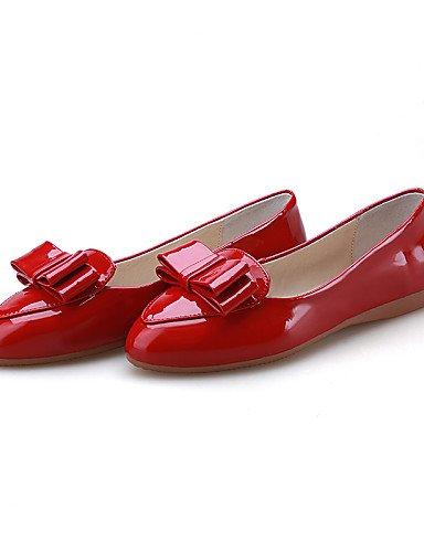 Eu37 us6 Semicuero Y Eu39 Uk4 us8 Gray 5 7 Zq Yyz 5 Tac¨®n Plano Rojo Uk6 Oficina Amarillo Vestido Gray Trabajo Zapatos Gris Cn39 5 De Planos Casual Puntiagudos Mujer Cn37 pgzqOpFw