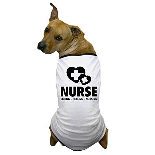 CafePress - Nurse - Caring Healing Nursing Dog T-Shirt - Dog T-Shirt, Pet Clothing, Funny Dog Costume -