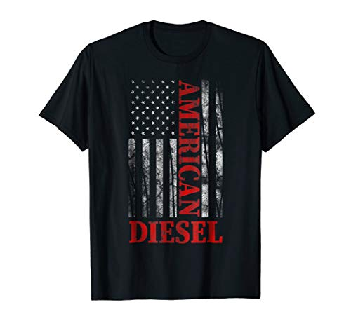 - American Diesel Flag Truck Turbo Brothers T-Shirt Gift