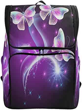 cb379880bd12 ZZKKO Colorful Butterflies Backpacks College School Book Bag Camping Hiking  Travel Daypack