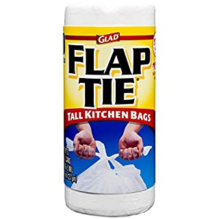 Glad Tall Kitchen Flap-Tie Trash Bags - 13 Gallon - 40 Count (78209) (Package May Vary)