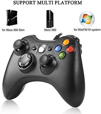 Etpark Mando Xbox 360, PC Mando USB Controlador de Gamepad Joystick de juegos Joypad para Xbox 360, mando de diseño ergonómico mejorado para Xbox 360 ...