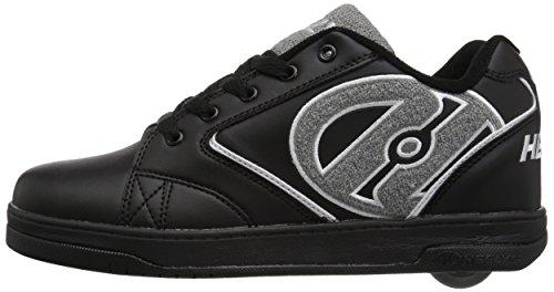 HEELYS PROPULSAR zapato 2018 logotipo de rizo negro / gris