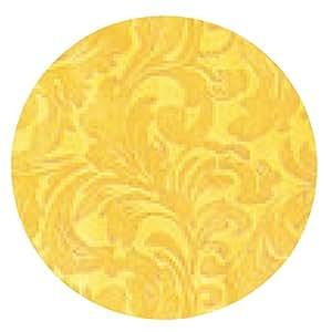 alfombrilla de ratón el patrón de tejido de brocado ornamento floral de oro - ronda - 20cm
