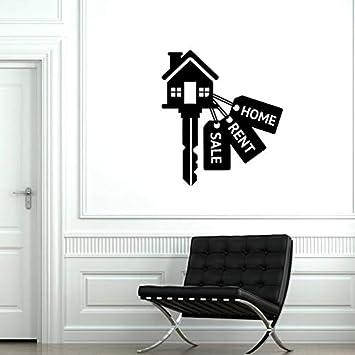 tzxdbh Agencia inmobiliaria de Vinilo de Bienes raíces Agencia inmobiliaria Propiedad decoración Pegatinas Interiores Mural 42x47 CM