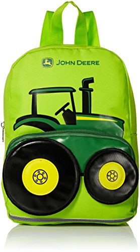 John Deere Little Kids Boys Girls Toddler Backpack, LIME GREEN, One Size (Tractor Gift Bag)