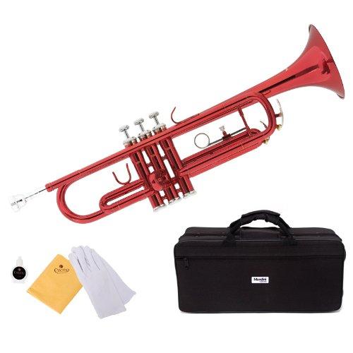 trompeta roja Mendini con funda y accesorios (xmp)