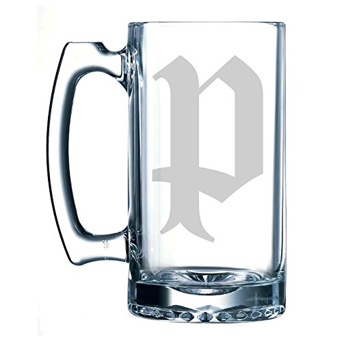 Olde English Lower Case 'p' - 25 oz Glass Beer Stein -