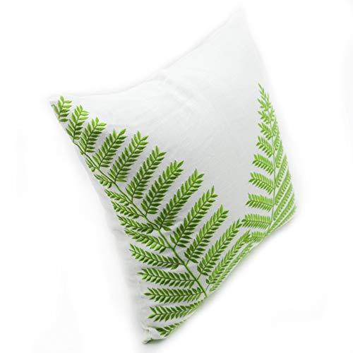 Amazon.com: Throw almohada funda para sofá verde helecho ...