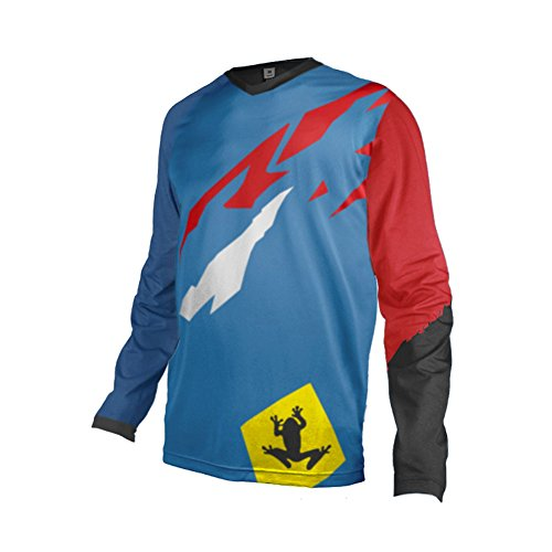 (Uglyfrog 2018 Mens Rage MTB/Downhill Jersey Cycling/Motocross Mountain Bike Long Sleeve Shirt)