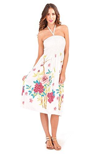 Vestido Veraniego de Dama 2 en 1 de algodón Pistachio Pink Floral 2