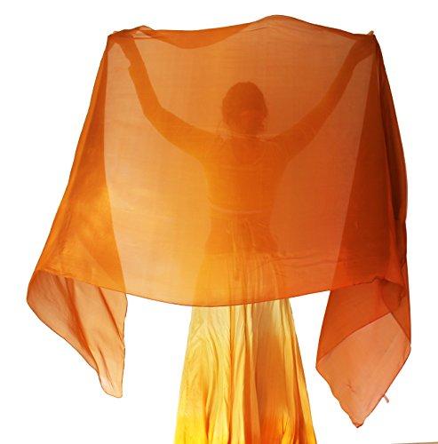 (Nahari Silks Womens 100% Silk Dance Scarves Shawls Wraps Solid Colors Periwinkle 108