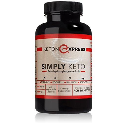 KetonExpress BHB Salts Capsules - 30 Day Supply Exogenous Ketones Supplement - Betahydroxybutyrate Powder in a Pill - Keto Supplements for Weight Loss and Energy - Electrolytes and Caffeine