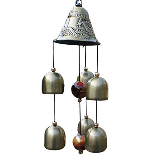 Homedeco Inspirational Amazing Grace Wind Chime Outdoor Living Yard Garden Bells Home Decor (Oriental Bell)