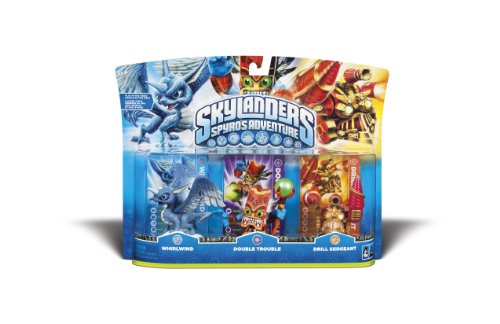 Skylanders Spyro Adventure Triple Character Pack (Whirlwind, Double Trouble, Drill Sergeant) (Skylander Action Figures)