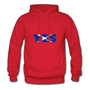 Scotland Says Yes Red Customized Women Long-sleeve Sweatshirts - X-large