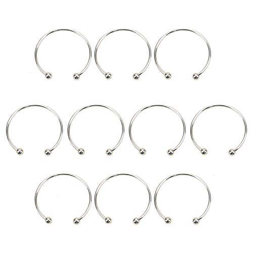 JETEHO 10PCS/Set Ball Closure Adjustable Wire Blank Bracelet, Women's Expandable Blank Bangles Bangle for DIY Jewelry Making ()