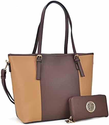 061fc12e1a Fashion Women Signature Designer Tote Satchel Handbag Purse with Matching  Wallet