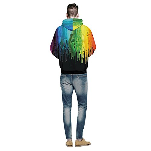 Cfanny - Sudadera con capucha - Noche - para mujer Colorful Paint