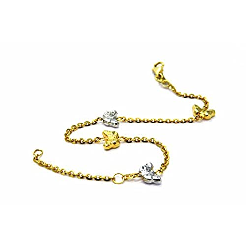 203872e1df80 Pegaso joyas – Pegaso Joyería – Pulsera oro amarillo y blanco 18 kt  Mariposas – Mariposas