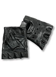 Men's Steampunk Goggles, Guns,  Accessories Interstate Leather Mens Basic Fingerless Gloves (Black Large) $7.50 AT vintagedancer.com