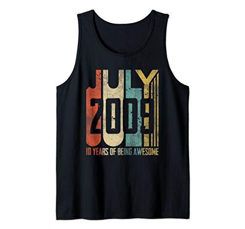 - July 2009 T-Shirt 10 Years Old 10th Birthday Gift Boys Kids Tank Top