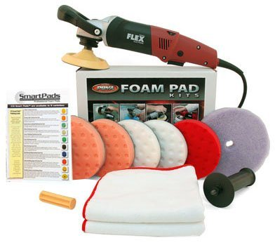 FLEX L3403 VRG Lightweight Circular Polisher 5.5 inch Pad Kit by Flexcut