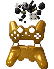 OSTENT Full Controller Shell Case Housing Button Kit Compatible for Sony PS3 Bluetooth Wireless Controller - Color Gold