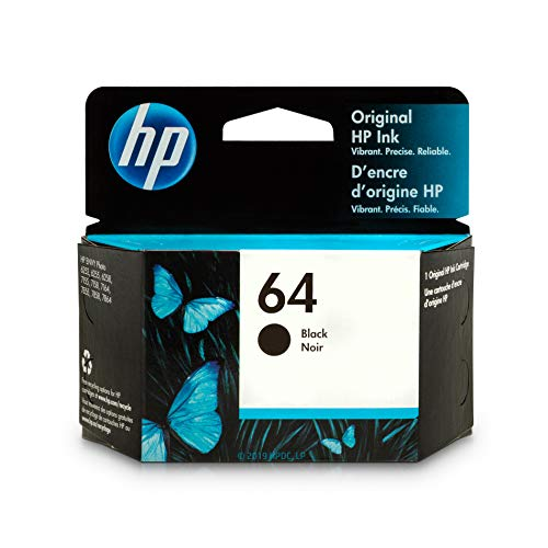HP 64 Black Ink Cartridge (N9J90AN) for HP ENVY Photo 6252 6255 6258 7155 7158 7164 7855 7858 7864 HP ENVY 5542 ()