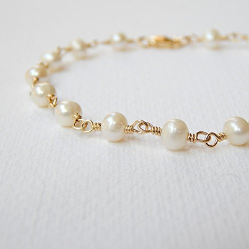 Bracelet Rosary Freshwater Pearl (Cultured Freshwater Pearl Bracelet Gold Filled)