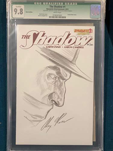 ALEX ROSS signed ORIGINAL Sketch Art CGC 9.8 THE SHADOW (Book Comic Original Art)