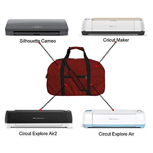 - Cricuit Bag, Cricuit Storage Case,Sewing Machine Dream Duffles, Large Cricuit Tools Carrying Tote Bag, Multi-Purpose Cricuit Maker Machine Travel Kit Bag (Red Wine)