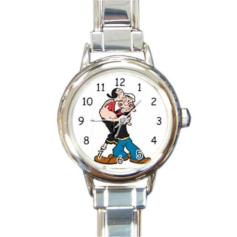 Popeye and Olive Oyl Hugging Round Italian Charm Watch (Wimpy Adult Costume)