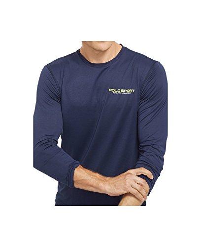 Polo Ralph Lauren Men's Blue Polo Sport Performance Jersey T-shirt (French Navy)