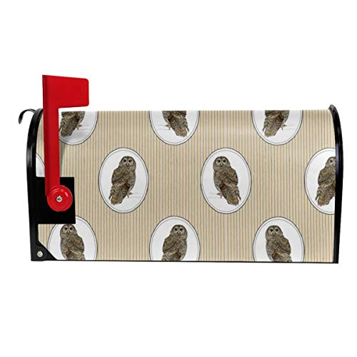 Milyla-ltd Owl Cameo Magnetic Mailbox Cover Letter Post Box Cover Wrap Standard Size 21