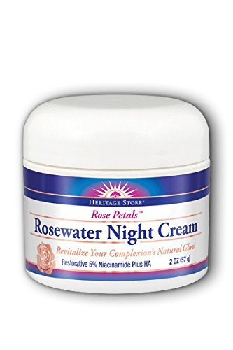 Rose Petals Rosewater Night Cream Heritage Store 2 oz Cream (Heritage Store Rose Petals Rosewater)