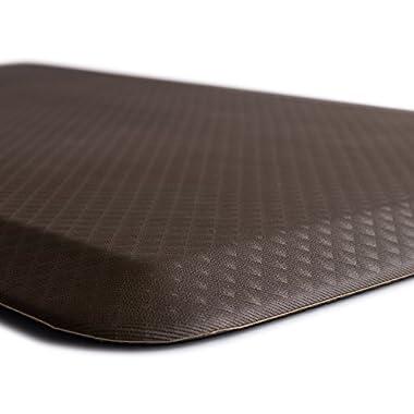 The Original 3/4  KANGAROO (TM) Non-Slip Anti-Fatigue Comfort Mat, Ergonomically Engineered, Non-Toxic, Waterproof, 32x20 inches (Brown)