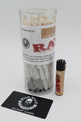 Raw Organic 1 1/4 Classic Cones 100 with Free Clipper Lighter (Raw Cones 1 1 4 compare prices)