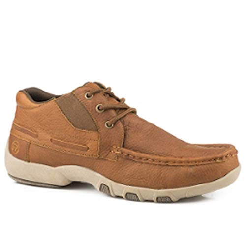 ROPER Men's Chuck Boat Shoe Lace Up Casual (11) Brown ()