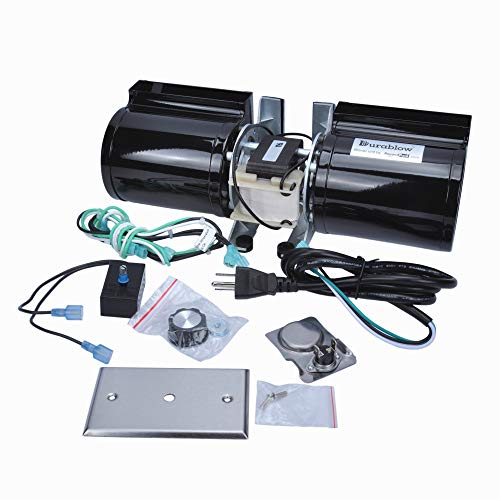 Durablow GFK-160 Fireplace Stove Blower Complete Kit for Lennox, Superior, Heat N Glo, Hearth and Home, Quadra Fire, Regency, Royal, Jakel, Nordica, Rotom ()