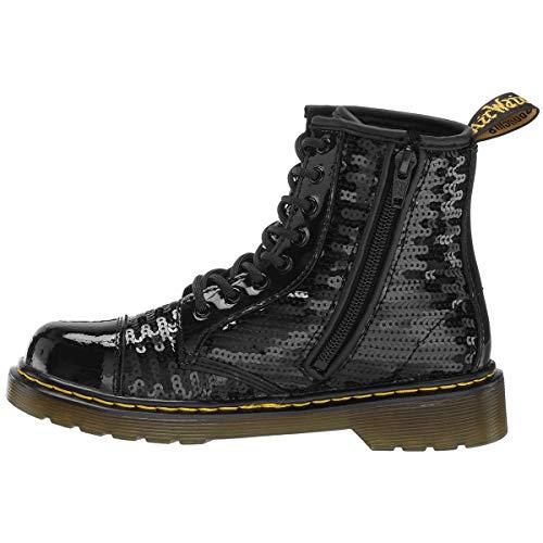 Black Caviglia Alla Stivali Gioventù Nero Martens Dr 1460 Y Sequin Pooch Wqqv8R7