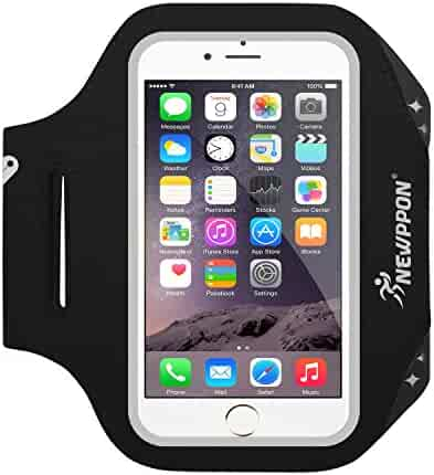 7819a47704 Newppon Running Cell Phone Armbands :Adjustable Reflective Exercise Bands &  Key Pockets for iPhone X