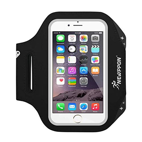 Newppon Running Cell Phone Armbands :Adjustable Reflective Exercise Bands & Key Pockets for iPhone X 8 7 6S 6, Samsung Galaxy S9 S8 S7 Google Pixel,for Workouts Biking