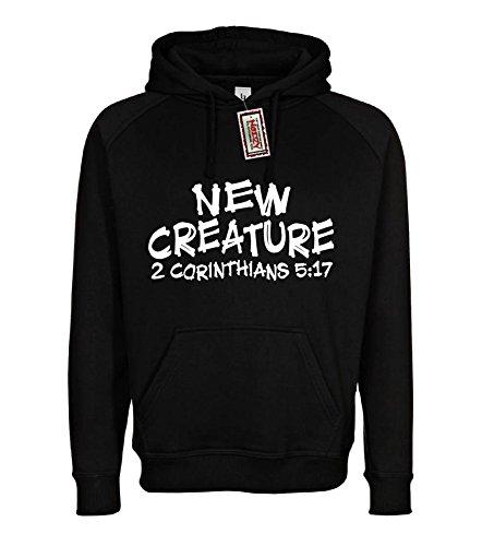 New Creature 2 Corinthians 5:17 Christian Hoodie Black Medium Sweatshirt