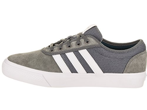 Adidas Originals Mens Adi-facilité Lace Up Sneaker Gris / Blanc / Réel Sarcelle
