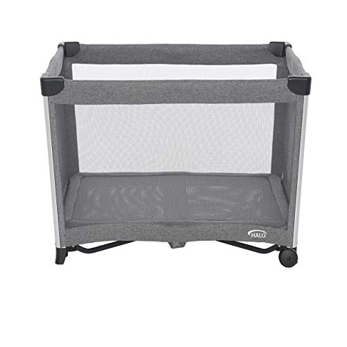 418frEFE8pL - HALO 3-in-1 DreamNest Plus Bassinet, Portable Crib, Travel Cot With Rocking Attachment, Breathable Mesh Mattress, Easy To Fold Pack And Play
