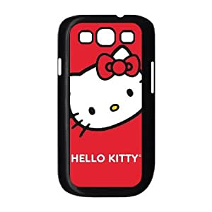 Hello Kitty Cropped Face Red Samsung Galaxy S3 9300 Cell Phone Case Black Delicate gift JIS_400282