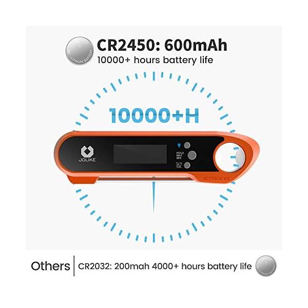 JOLIKE Termometro Cucina 2s Lettura Istantanea IP67 Impermeabile Termometro Sonda Carne Digitale Professionale per BBQ… 2