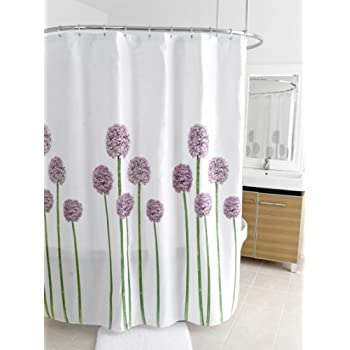 80OFF Holly Modern Cotton Fabric Long Shower Curtain Floral Curtains For Bathroom